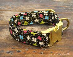 Halsband für den Hund Fancy Garden einstellbar. Mit von Wakakan