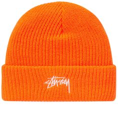 f193690f9ec Buy the Stussy Stock Cuff Beanie in Orange from leading mens fashion  retailer END. - only Fast shipping on all latest Stussy products.