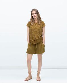 Image 1 of FLOWY BERMUDAS from Zara