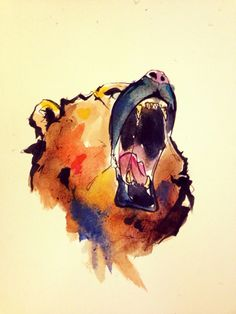 Bear watercolor oso acuarela art arte