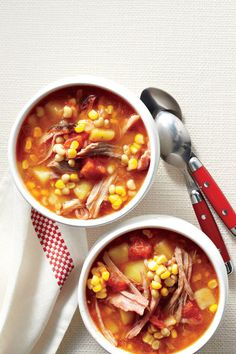Summer Brunswick Stew: A light, summery broth lets the flavors of fresh-picked corn and lady peas shine.