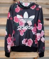 Moletom Adidas Black Floral (Réplica) Pajama Outfits, Cute Outfits, Athleisure Trend, Tumblr Fashion, Hoodies, Sweatshirts, Sweater Hoodie, Personal Style, Autumn Fashion