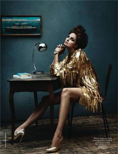 """Gold Fever"" by Serge Barbeau Madame Figaro France 2010"