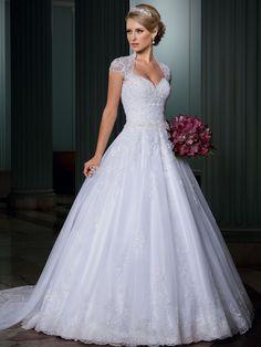 Vestido de noiva Ball Gown Wedding Dress Open Back Sexy Vestido de Casamento…
