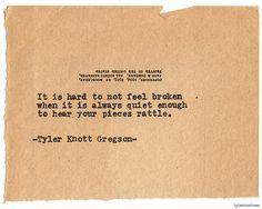 Typewriter Series #730 by Tyler Knott Gregson