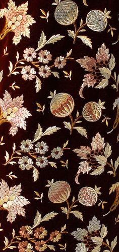 Silk dress fabric by Madame Dellac, American, c.1878