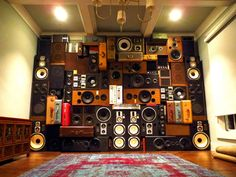 Speaker Wall Vintage Speakers Wall of Boom of Sound Nashville Music City BoomCase BoomBox Retro Recording Booth, Music City Nashville, Music Speakers, Dj Booth, Music Wall, Boombox, Decoration, Home Projects, Nashville Tennessee