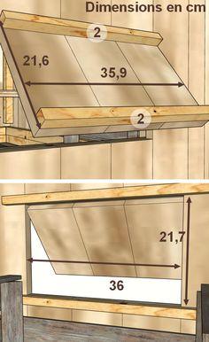 Construction d'un poulailler en palettes modulable- plan