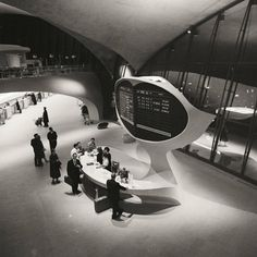 "historicaltimes: ""Information desk, Trans World Airlines Terminal, John F. Kennedy Airport, New York, New York, by Balthazar Korab, between 1956-6 """