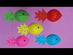 How to Make a Cute Paper Fish Not Origami Step by Step Tutorial | Fish - Paper Folding Craft DIY - YouTube