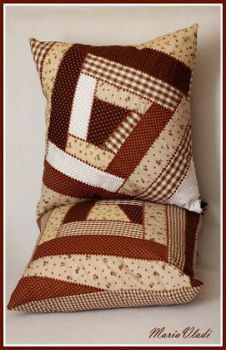 43 Ideas For Patchwork Patterns Pillow Free Sewing Crazy Patchwork, Patchwork Patterns, Patchwork Bags, Quilt Patterns Free, Log Cabin Patchwork, Patchwork Tutorial, Sewing Pillows, Diy Pillows, Decorative Pillows