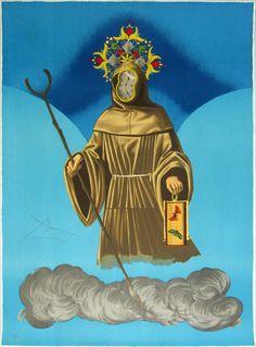 """Salvador Dalí: """"El ermitaño"""" 56/150 - Subasta Real"""