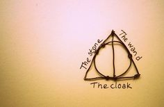 deathly hallows, rep inning for the design minus words, I want it as a tat.