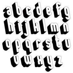 Black and white font, single color simple and bold letters. - Black And White Font, Single Color Simple And Bold Letters … Font basic principles Hand Lettering Alphabet, Graffiti Alphabet, Graffiti Lettering, Block Lettering, Typography Letters, Block Letter Fonts, Bubble Letter Fonts, Style Alphabet, 3d Alphabet