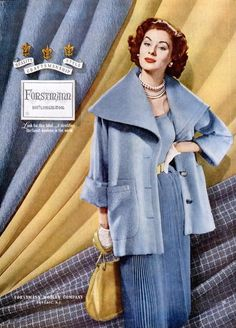 Suzy Parker in a Forstmann ad, 1953