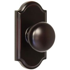 Weslock 1710I Impresa Privacy Door Knob with Premiere Rose from the Elegance Col Oil Rubbed Bronze Knobset Privacy