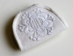 beautiful wool embroidered needle book