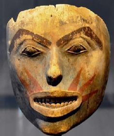 Sun mask of the Tlingit people of the Pacific Northwest. Artist unknown; late 18th/early 19th century art. From Alaska; now in the Museum Rietberg