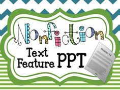 This nonfiction text feature power point presentation works perfectly by itself, however was intended to compliment my Nonfiction Text Feature Activities with Real Nonfiction Articles. It highlights 25 different text features in four sections . Nonfiction Text Features, Fiction And Nonfiction, Text Features Powerpoint, Text Features First Grade, Reading Workshop, Teacher Hacks, Presentation, Teaching, Second Grade