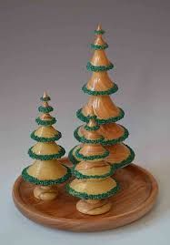 Image result for wood turned christmas ornament