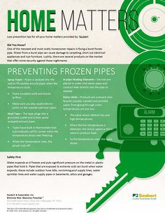 Home Matters: Preventing Frozen Pipes