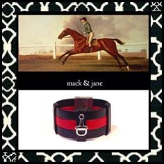 The leather cuff bracelet– arm candy for rock stars, rebels, and now bold yet sophisticated horse lovers thanks to the equestrian-inspired jewelry of Mack & Jane! http://www.counter-canterculture.com/?p=6479