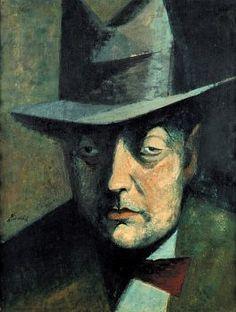 František Tichý - Portrait of a man Circus Performers, New Art, Painting Art, Paintings, Sketches, Figurative, Artist, Artwork, Portraits