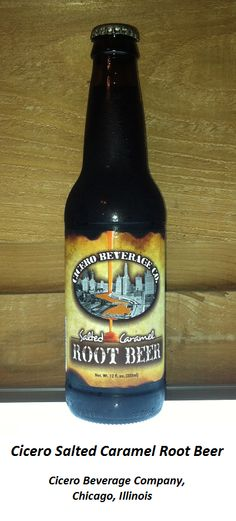 ROOT BEER REVIEW, Cicero Salted Caramel Root Beer: The aroma is sugary and toffee-like.  Extremely sweet initial flavor, with a strong caramel note.  A syrupy, synthetic aftertaste that calls to mind coconut suntan lotion.  No discernable saltiness, nor much rootiness.  A novelty drink.