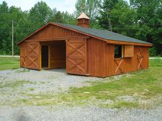 Modular double wide horse barn  Good for me since I don't need loft. Needs to be bigger, though