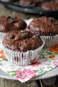 Chocolade yoghurt muffins| HandmadeHelen