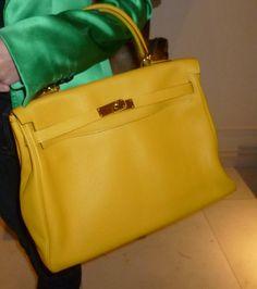 Hermes yellow Kelly bag