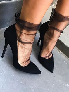 high heels – High Heels Daily Heels, stilettos and women's Shoes Mesh Socks, Sheer Socks, Lace Socks, Socks And Heels, High Heel Boots, Heeled Boots, Shoe Boots, Shoes Heels, Sock Boots Outfit