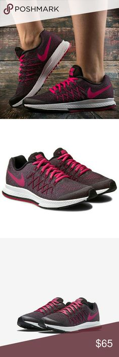 NIKE ZOOM PEGASUS 32 GIRLS. SIZE 3.5Y NEW Color black/vivid pink-white. ...new with box. Girl youth size Nike Air Zoom Pegasus 32 (3.5y) Girls' Running Shoe features breathable engineered mesh and strategically placed overlays that deliver ventilation and support alongside the cushioning and ride that runners expect from this legendary running shoe. nike Shoes Athletic Shoes