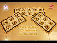 Jogo de Cozinha Cerejeira de Crochê - Professora Simone - YouTube