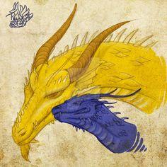Saphira and Glaedr sketch. by Tsuani-Inushiro on DeviantArt