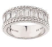 I like this simple style. Surprisingly affordable. Judith Ripka Sterling and CZ $64