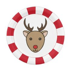 Peppermint Christmas Reindeer Party Paper Plates - kitchen gifts diy ideas decor special unique inidual customized  sc 1 st  Pinterest & Abstract Vivid Stars Swirls Paper Napkins - kitchen gifts diy ...