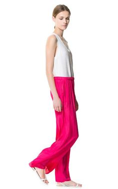 FLOWING SARONG TROUSERS from Zara