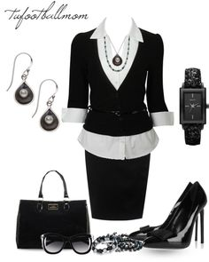 """Classy in Pearls - Black Pearls"" by tufootballmom on Polyvore"