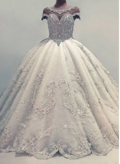 Glamorous Ball Gown Wedding Dresses UK Shiny Crystals Bridal Gowns with Flowers Wedding Dresses Uk, Affordable Wedding Dresses, Luxury Wedding Dress, Wedding Dress Sleeves, Perfect Wedding Dress, Cheap Wedding Dress, Bridal Dresses, Bridesmaid Dresses, Gown Wedding