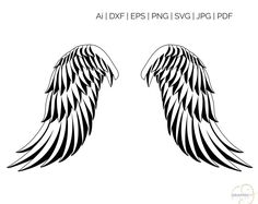 Angel Wings SVG, Silhouette and Cricut Cut Cutting file, svg files Angle Wings Drawing, Act Like A Lady, Art File, Svg Files For Cricut, Drawing Tips, Drawing Stuff, Cricut Design, Cutting Files, Angels