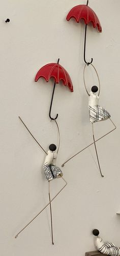 ceramic wall figurine holding red umbrella (sold seperately) – Handmade with Love - Eleni Pantagis   #art #sculpture #wallart #ceramicart #handmadeart #ceramicfigurines Handmade Home Decor, Handmade Shop, Handmade Art, 3d Wall Art, Home Decor Wall Art, Artisan Jewelry, Handcrafted Jewelry, Red Umbrella, Fair Trade Jewelry
