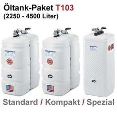 Moderne Systemlösung für Ihr Zuhause: SCHÜTZ Öl-Lagerbehälter Paket, Tank im Tank, Kunststoff, T103, 2250 – 4500 Liter, div. Ausführungen, inkl. Zubehör