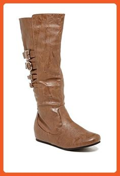 72647b50cda2 Carrini CA Collection Womens Fashion Multi Buckle Strap Boots