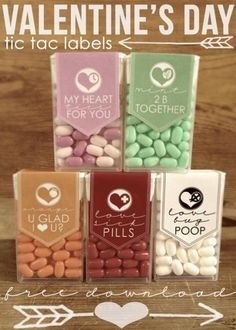 Tic-Tac-Label for a cute Valentines treat