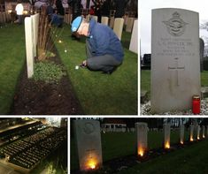 On Christmas Eve thousands of candles were placed and lit at headstones in Commonwealth War Graves Commission cemeteries and plots in Belgium and the Netherlands by members of the local community.