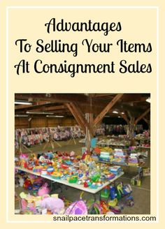 Getting items ready or a consignment sale is a lot of work BUT the pay off can be substantial for clothing compared to yard sales, and the time it takes to see a pay out is a lot faster than most consignment stores.