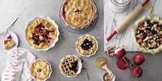 """It is pie season! Check out these ruffled pie dishes from Crate & Barrel. Repin if you want a $ 250 Crate & Barrel Gift Card to be this week's prize in the """"Fall Over the Moon"""" Sweepstakes. For complete details and to enter visit https://www.facebook.com/overthemoonmilks/app_420599617999820."""