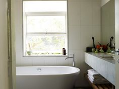 This Sydney beach house has a bathroom to envy.