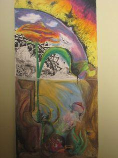"""Mushroom Effect""  Ink and Pastel"